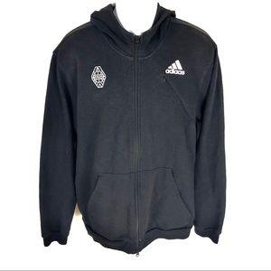 Adidas Men's Black Hoodie Jacket XL